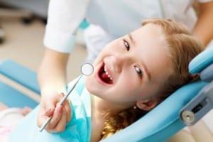 Children visiting dentists
