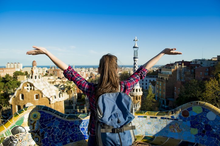 Gap year student in Barcelona