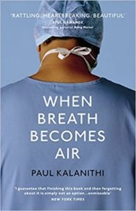 Book cover for When Breath Becomes Air - books for aspiring medics